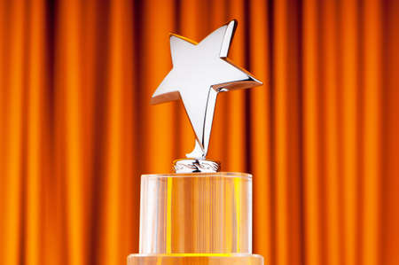 Star award against curtain background Stock Photo - 9752863