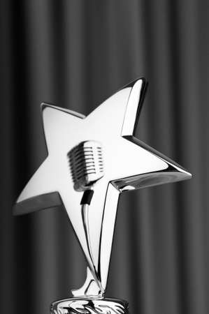 Star award against curtain background Stock Photo - 9752906