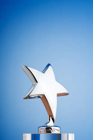 Star award against gradient background Stock Photo - 9820511