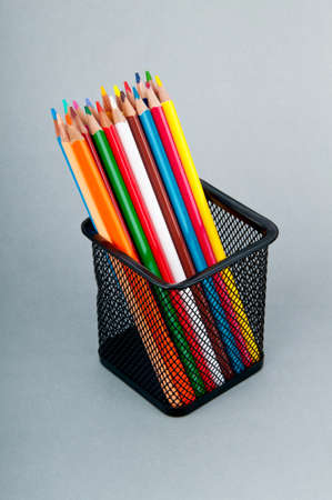 Colourful pencils on the background Stock Photo - 9847565