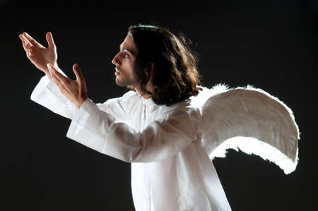 Religious concept with angel Stock Photo - 9852727