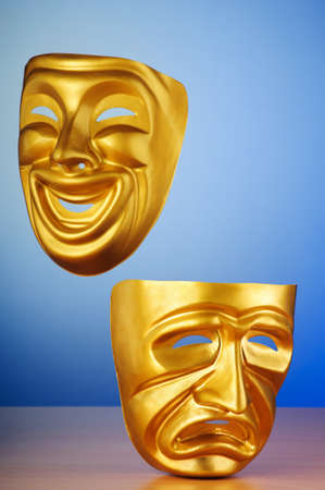 comedy and tragedy: Masks with the theatre concept