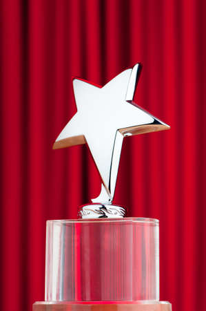 Star award against curtain background photo