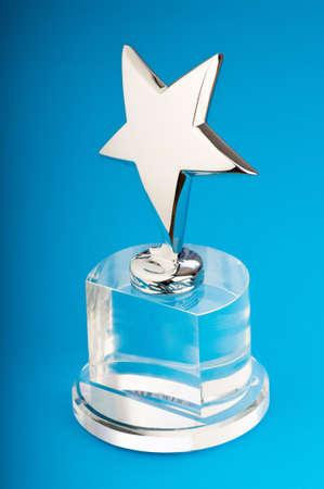 Star award against curtain background Stock Photo - 9847661