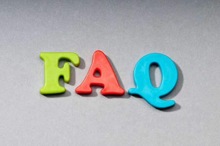 FAQ word on the background photo