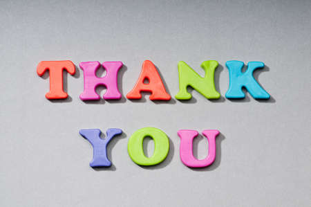 Thank you message on the background photo