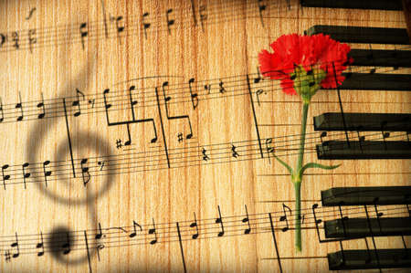sheet music: Vintage music concept