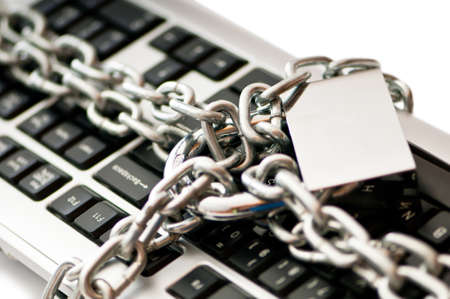 Concept of internet security with padlock and keyboard Stock Photo - 9917973