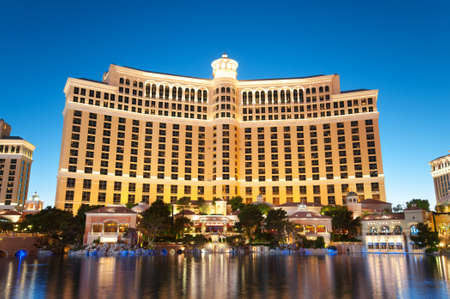 bellagio fountains: Las Vegas - 11 Sep 2010  - Bellagio Hotel Casino during sunset