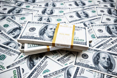 Background made of many dollars Stock Photo - 9918061