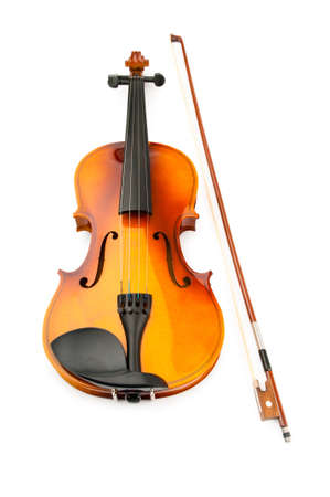 Violin isolated on the white Stock Photo - 9917347