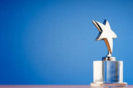 Star award against gradient background Stock Photo - 9917744