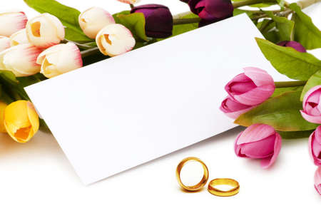 Wedding concept with roses and rings Stock Photo - 9918123