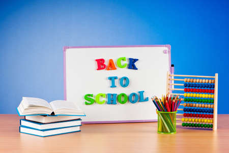 Back to school concept with many items Stock Photo - 9917857