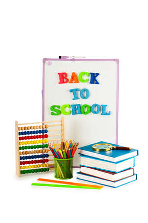 Back to school concept with many items Stock Photo - 9918209