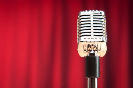 Audio microphone against the background Stock Photo - 9918023