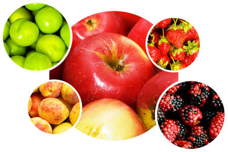 Collage of many fruits and vegetables Stock Photo - 9917160