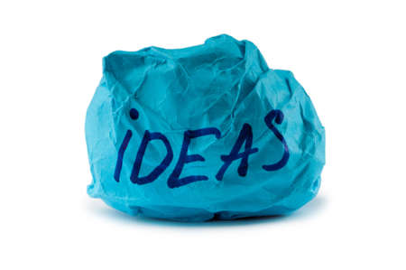 stress ball: Rejected idea concept with paper
