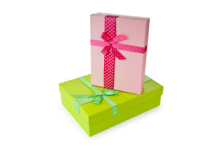 Giftboxes isolated on the white Stock Photo - 10057994