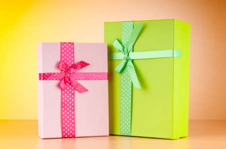Giftboxes on the background Stock Photo - 10058119