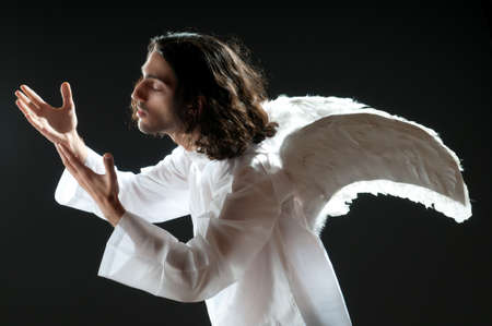 Religious concept with angel photo