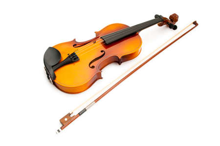 Violin isolated on the white photo