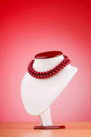 Pearl necklace against gradient background Stock Photo - 10058125
