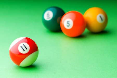 Pool balls on the table Stock Photo - 10058437