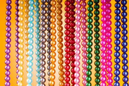 Abstract with colourful pearl necklaces Stock Photo - 10058058