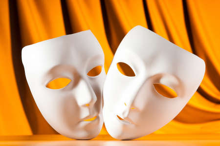 Masks with theatre concept photo