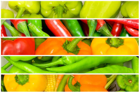 Collage of many fruits and vegetables Stock Photo - 10058089