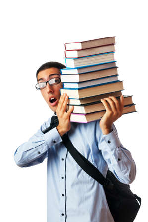 Education concept with student Stock Photo - 10161792