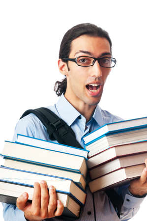 Education concept with student Stock Photo - 10162316