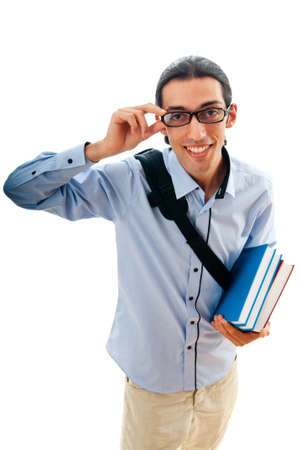 Education concept with student Stock Photo - 10161778