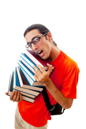Education concept with student Stock Photo - 10161776