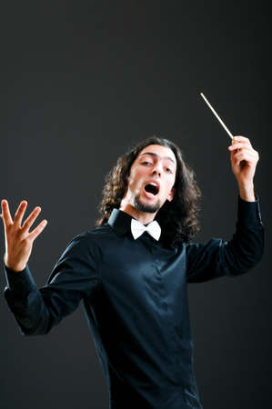 conducting: Music concept with passionate conductor