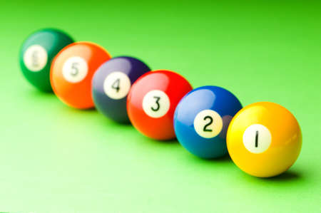 Pool balls on the table Stock Photo - 10132105