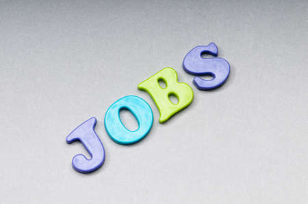 Employment concept with words  on background photo