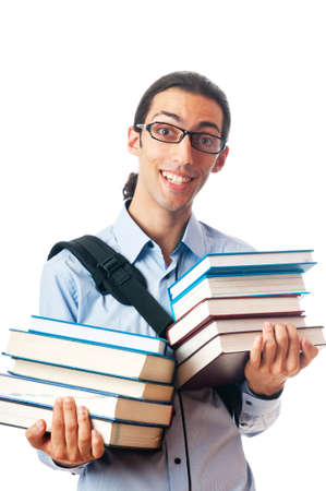 Education concept with student Stock Photo - 10308539