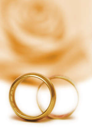 Wedding concept with roses and rings Stock Photo - 10288842