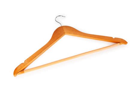Hanger isolated on the white background photo