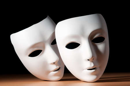 theatre costumes: Masks with theatre concept Stock Photo