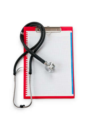 prescription pad: Medical concept with stethoscope