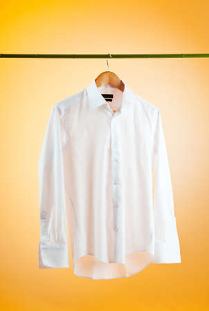 drycleaning: Shirt hanging on the hanger
