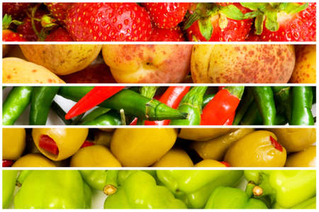 Collage of many fruits and vegetables Stock Photo - 10289220