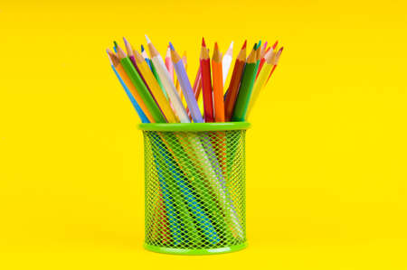 Back to school concept with colourful pencils photo
