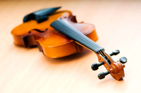 Violing in music concept Stock Photo