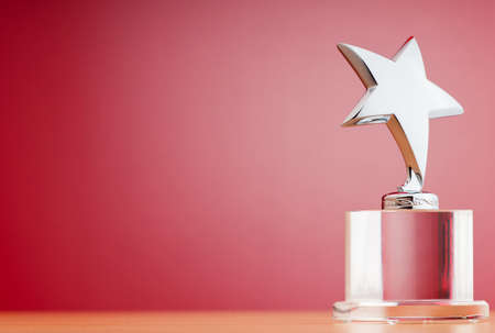award background: Star award against gradient background