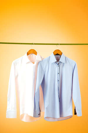 drycleaning: Male shirt against gradient background