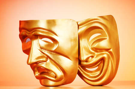 Masks with the theatre concept Stock Photo - 10371024